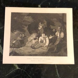 "The Thunder Storm 6"" x 7.25"" Antique Engraving"